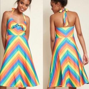 Modcloth It's Only Bright halter dress